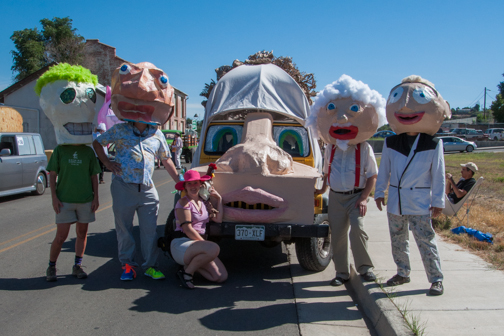 Art Carfunkel and the Crew just before the parade